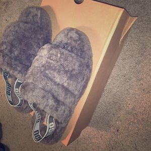 Charcoal Gray Ugg Slippers